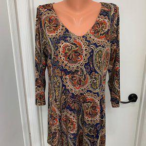 Pretty Woman 3/4 sleeve paisley dress